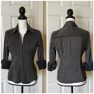 Express striped blouse sz M